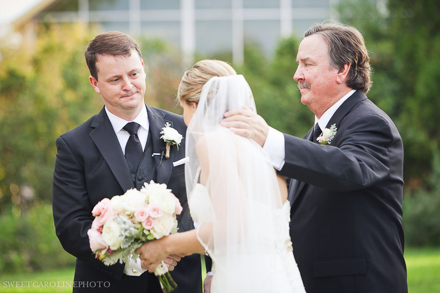 Father Of Bride Giving Daughter Away